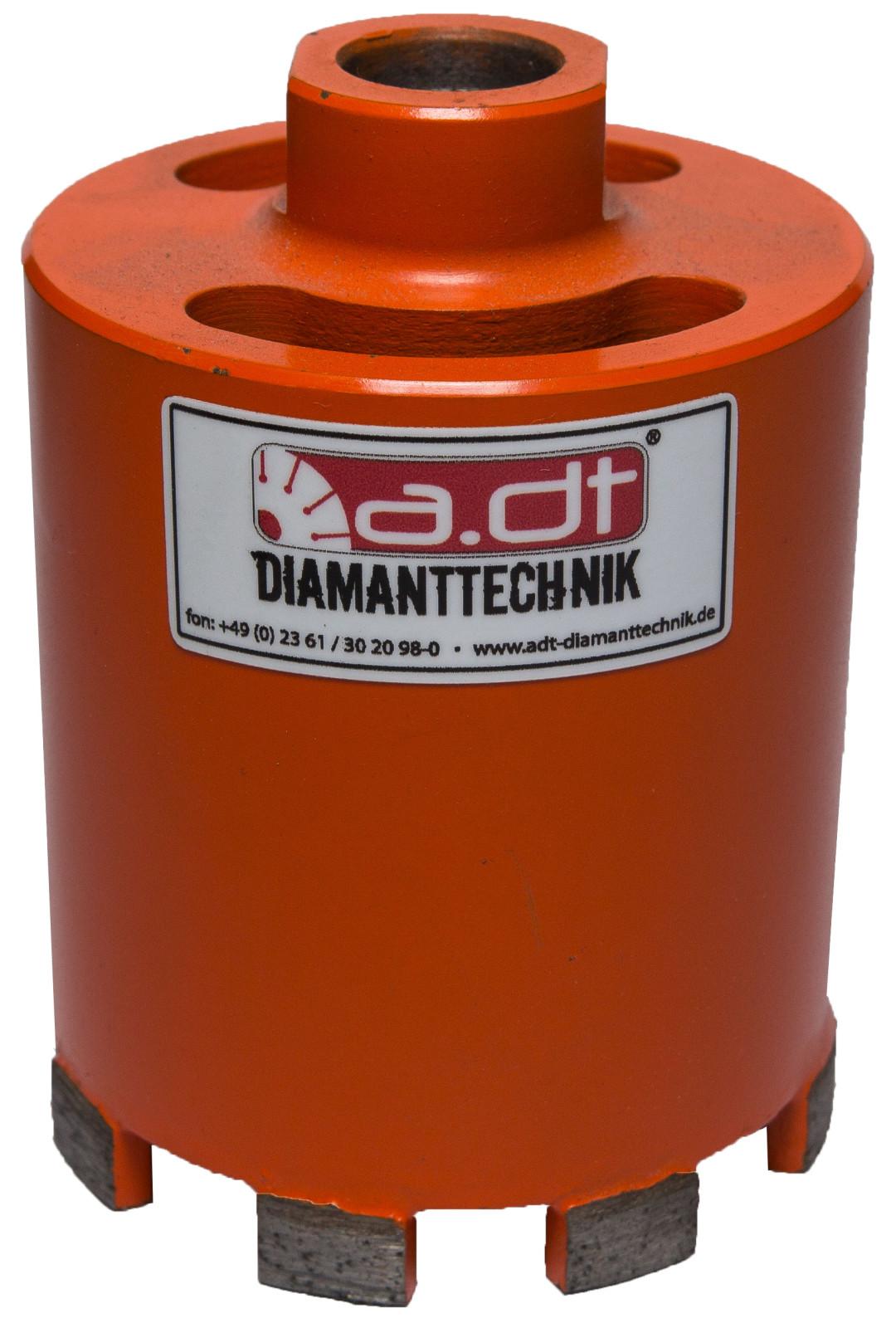 Diamant Dosenenker Dosenbohrer mit Absaugung Beton Quadrostein Klinker Ziegel Bohrmaschine M16 SDS Adapter