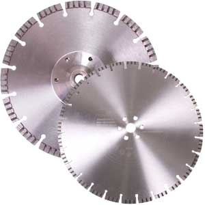 Diamond cutting disc flush flange