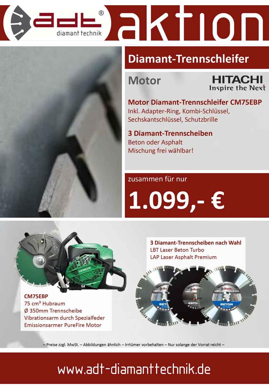 Hitachi Diamant-Trennschleifer CM75EBP Angebot