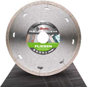 Diamond cutting disc tiles