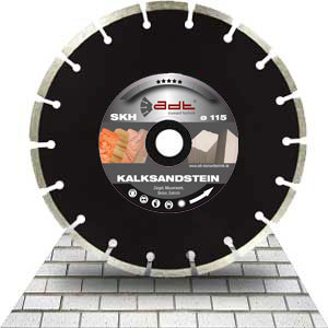 Diamond cutting disc lime sandstone