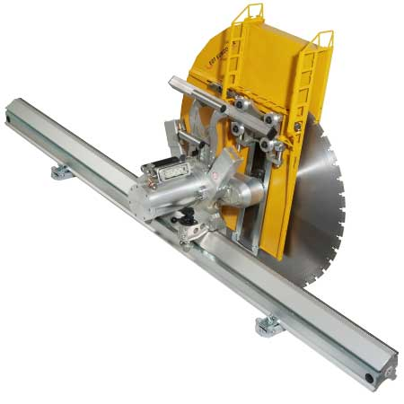 Electrical & hydraulic wall saws for concrete & brick work
