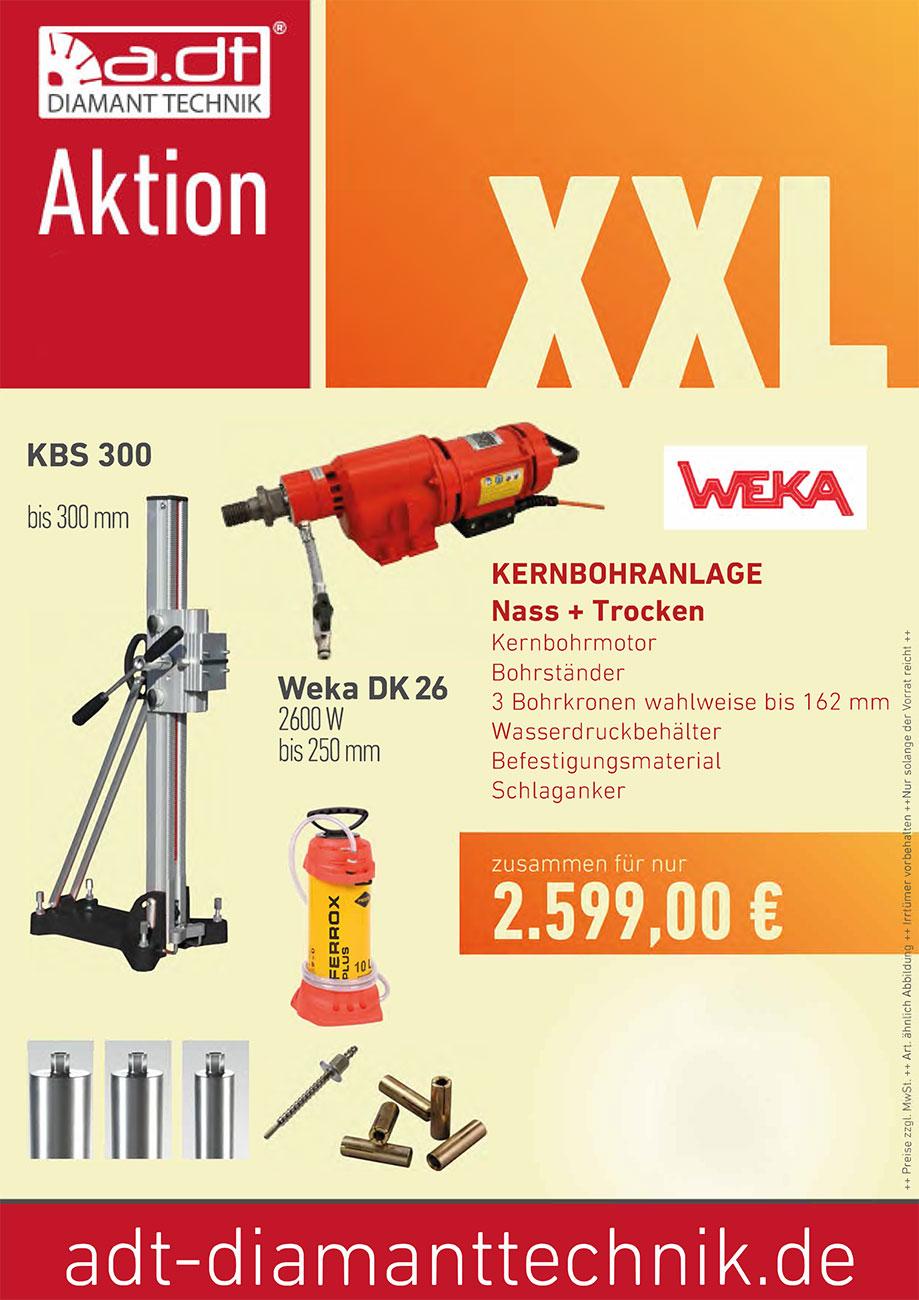 WEKA Kernbohranalage DK 26 +Ständer+Bohrkronen Angebot